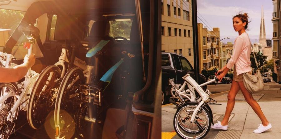Kényelmes utazás az összecsukható biciklivel